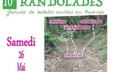 Samedi 26 mai 2018 – 10èmes Randolades, journée de balades contées en Provence